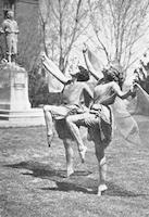Dance Class, Quad and John Mackay Statue, 1924